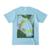 Tシャツ ライトブルー 人面魚ちゃん