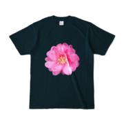 Tシャツ ネイビー BIG花