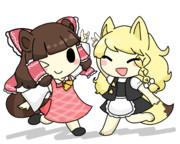 キツネとタヌキ★