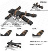 【MMD配布】ベルト付き処置台【改変】