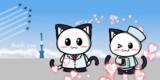 ポジティブ猫ヤミー君  「感謝のブルーインパルス」