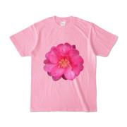 Tシャツ ピーチ BIG花