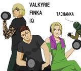 トレーニングするフィンカに話しかけるIQそれを見守るヴァルキリー そしてタチャンカ