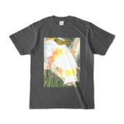 Tシャツ チャコール 人面魚ちゃん