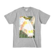 Tシャツ 杢グレー 人面魚ちゃん