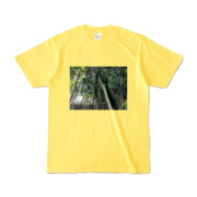 Tシャツ イエロー Photo-Bure-Nature