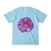 Tシャツ ライトブルー BIG花