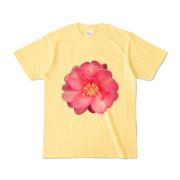 Tシャツ ライトイエロー BIG花