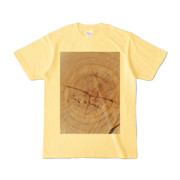 Tシャツ ライトイエロー SIMPLE-STUMP