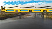 丸子橋から見た鉄道フレンズ