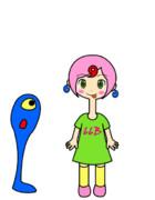 【GIFアニメ】伸縮自在【ろくろ首】