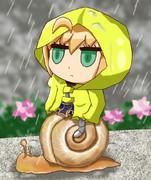 梅雨の中のマイマイリヨセイバー
