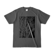Tシャツ チャコール KURO.KI