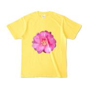 Tシャツ イエロー BIG花