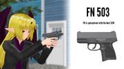 【MMD銃火器】FN 503【配布】