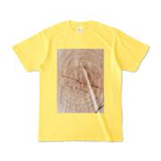 Tシャツ イエロー SIMPLE-STUMP