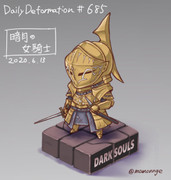 ほぼ毎日デフォルメ#685 暗月の女騎士