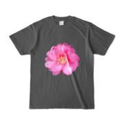 Tシャツ チャコール BIG花