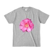Tシャツ 杢グレー BIG花