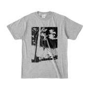 Tシャツ 杢グレー 電柱止まれ雲