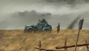 曇天の装甲騎兵