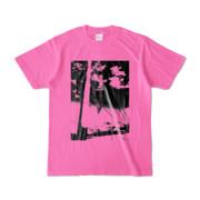 Tシャツ ピンク 電柱止まれ雲