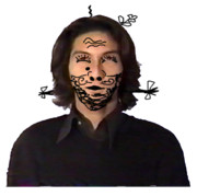 ポケットカメラGBのエラー画面と化した顔が変な人