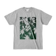 Tシャツ 杢グレー PLANT_GREEN
