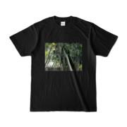 Tシャツブラック Photo-Bure-Nature