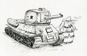 ガングートとT-34(ワンドロ200615)