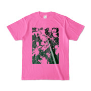 Tシャツ ピンク PLANT_GREEN