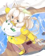 雨合羽ホワイトライオンちゃん