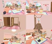 【MMDステージ配布】女の子の部屋