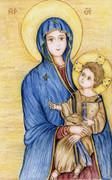 聖母子像:「ローマ市民の救い」