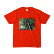 Tシャツ レッド Photo-Bure-Nature