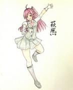 萩風さんとお絵描き練習2