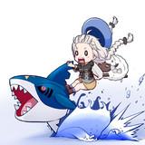 やせいのあかりとサメハダーがとびだしてきた!