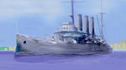 旧式戦艦の「出雲」