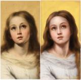 「素人が絵画を修復しようとして失敗 スペイン」と言うの見て、描いてみた