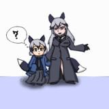 黒コートギンギツネとレプリかばんちゃん