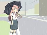 梅雨時の茜