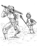 かつての英雄とその師匠