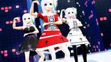 【MMD】VRoid ヴィクトリア・ルービン 黒ワンピース 白&赤ドレス