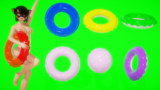 【MMDアクセサリ配布】浮き輪とビーチボール