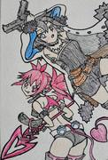魔界ウォーズの永遠の主人公とキュートな小悪魔