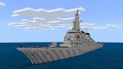 【マイクラBE】ミサイル駆逐艦作ってみた