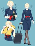 エールフランスCA制服のリシュリューさん