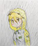 雨合羽キタキツネ