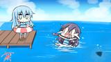 どうぶつたちが住む島の海開きで、一番乗りで海に飛び込んだが
