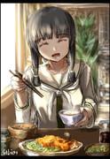 北上さんの顔見るとコロッケ食べたくなるって言ったら、なんだよそれって笑われた。